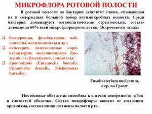 дисбактериоз во рту симптомы лечение у взрослых