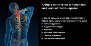 острый шейный остеохондроз симптомы лечение