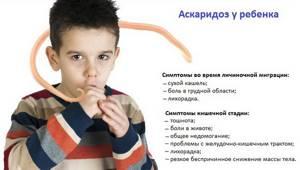 аскаридоз у ребенка симптомы лечение