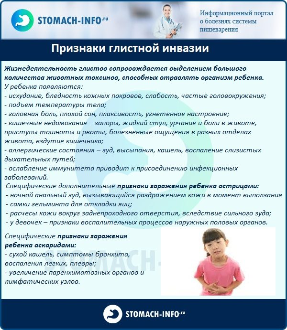 у ребенка глисты симптомы лечение