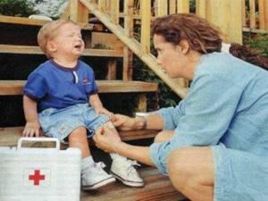ушиб стопы у ребенка симптомы лечение