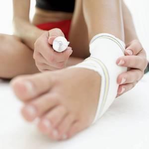 растяжение ноги симптомы лечение